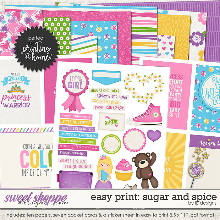 Easy Print: Sugar and Spice by LJS Designs