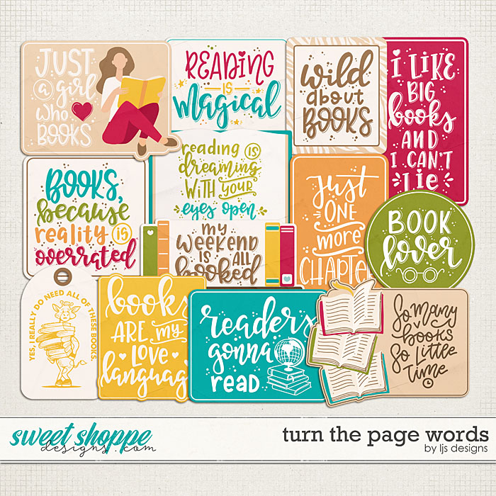Turn The Page Words by LJS Designs