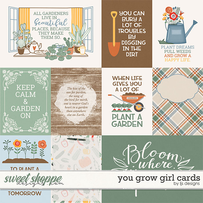 You Grow Girl Cards by LJS Designs
