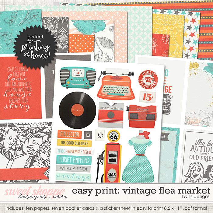 Easy Print: Vintage Flea Market by LJS Designs