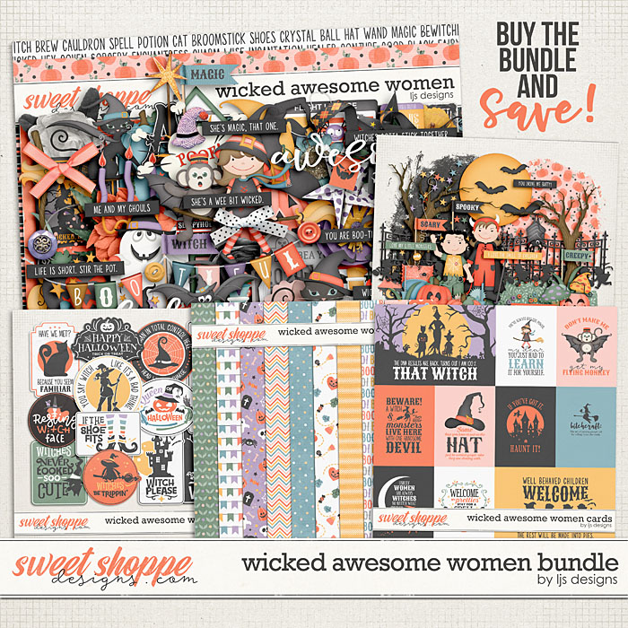 Wicked Awesome Women Bundle by LJS Designs