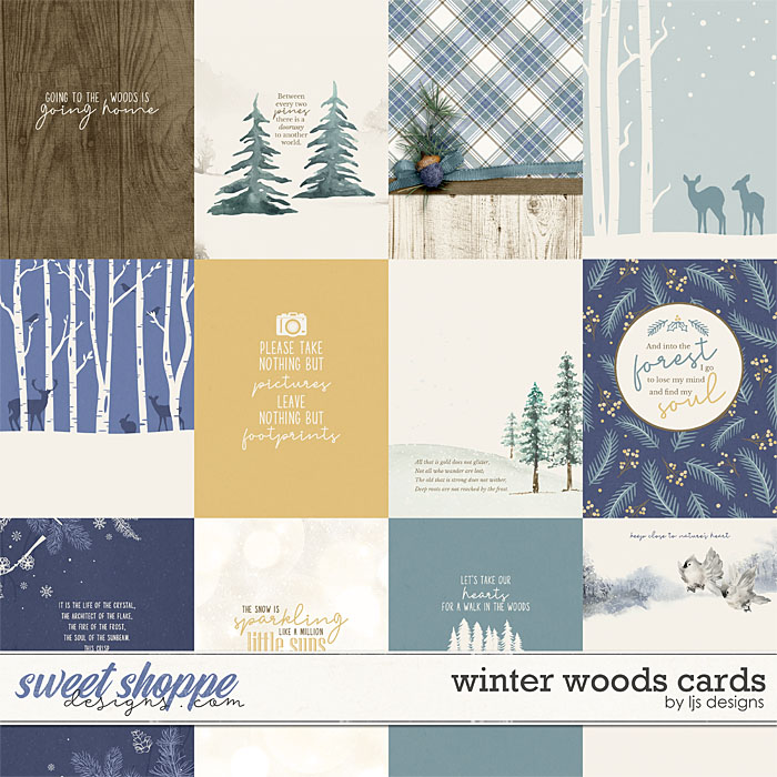 Winter Woods Cards by LJS Designs