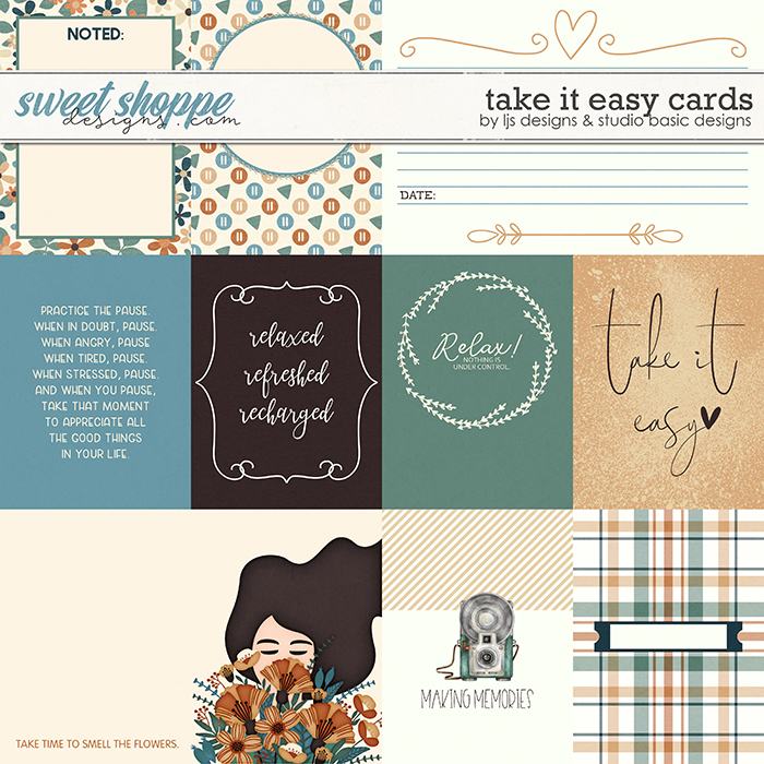Take It Easy Cards by LJS Designs and Studio Basic Designs