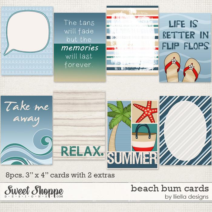 Beach Bum: Cards by lliella designs