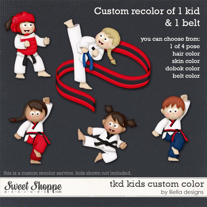 TKD Kids Custom Color by lliella designs