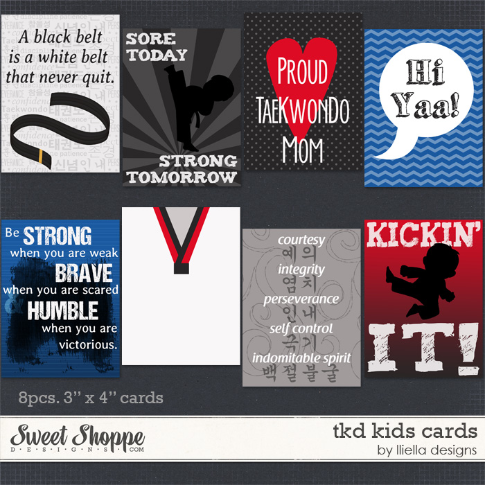 TKD Kids Cards by lliella designs