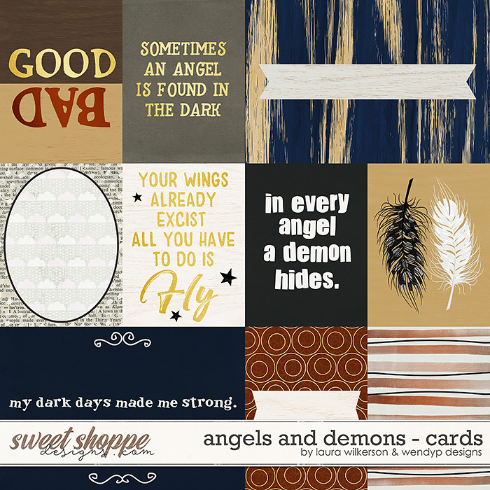 Angels & Demons - Cards by Laura Wilkerson & WendyP Designs