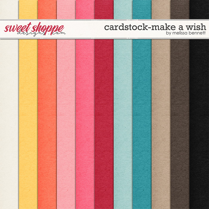 Cardstock-Make A Wish by Melissa Bennett