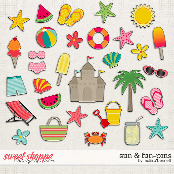 Sun & Fun-Pins by Melissa Bennett