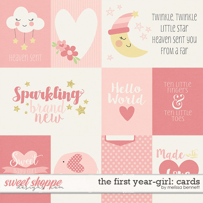 The First Year-Girl: Cards by Melissa Bennett