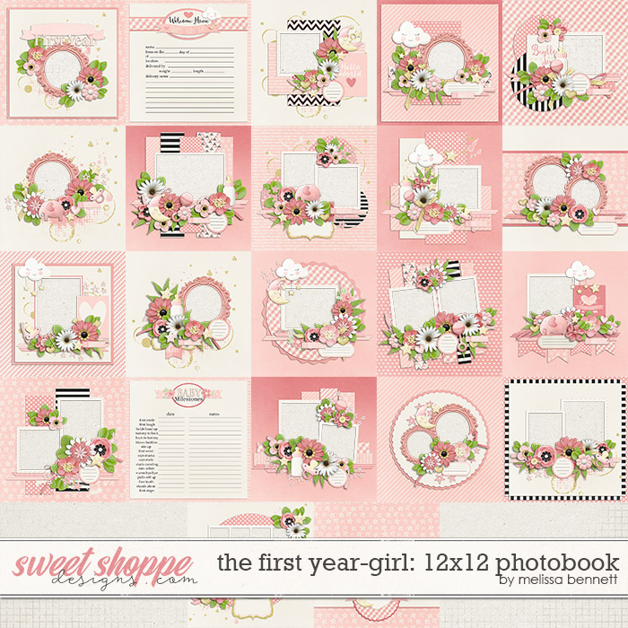 The First Year-Girl 12x12 Photobook by Melissa Bennett