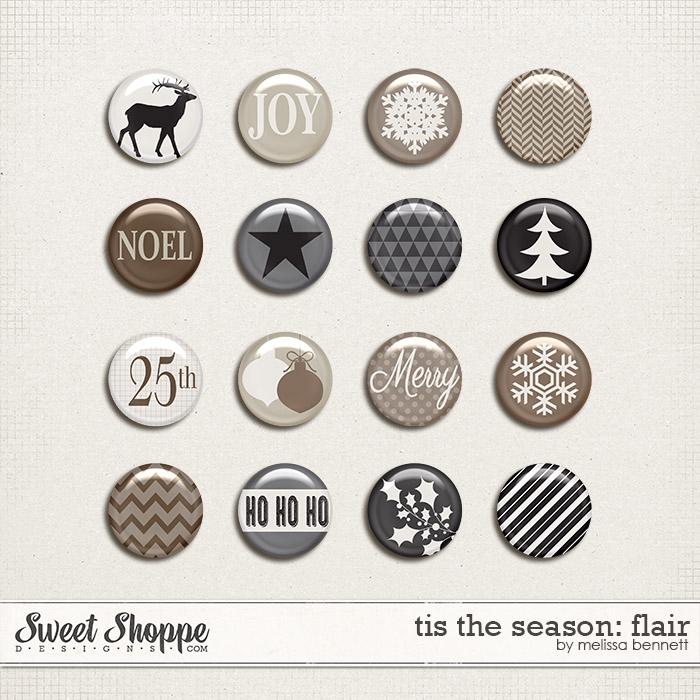 Tis The Season Flair by Melissa Bennett