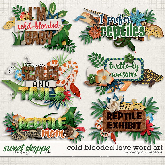 Cold Blooded Love: Word Art by Meagan's Creations