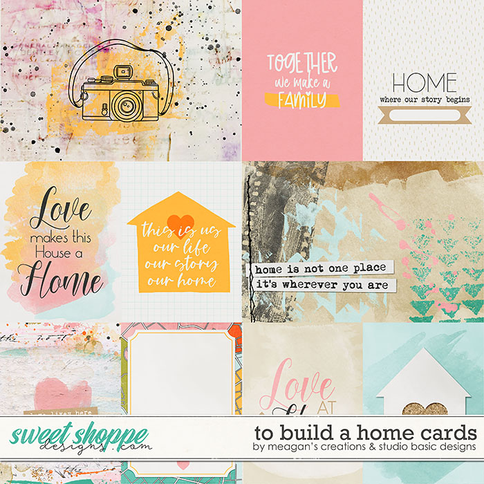 To Build A Home Cards Meagan's Creations and Studio Basic Designs