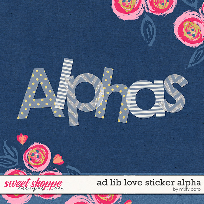 Ad Lib Love Sticker Alpha by Misty Cato