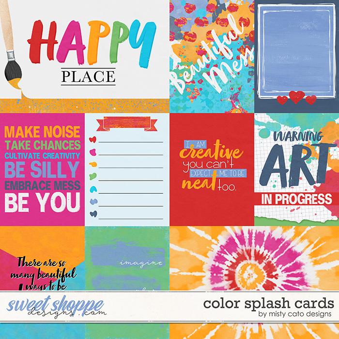 Color Splash Cards by Misty Cato