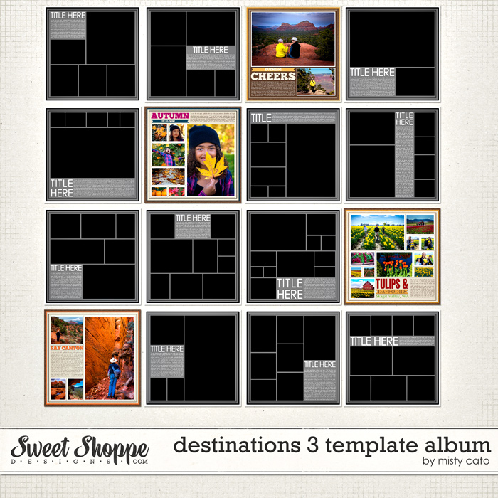 Destinations 3 Template Album by Misty Cato