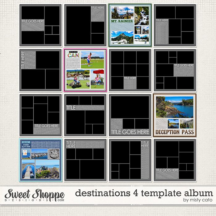 Destinations 4 Template Album by Misty Cato