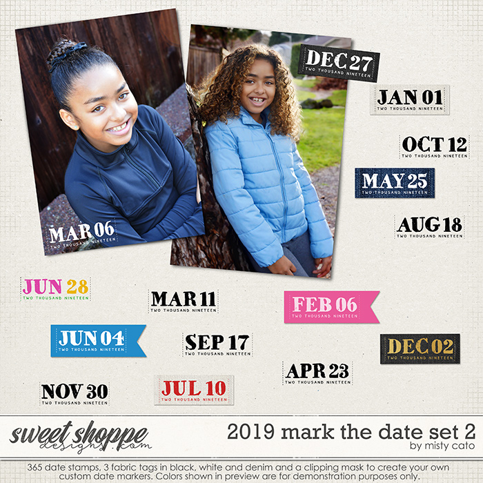 2019 Mark the Date Set 2 by Misty Cato