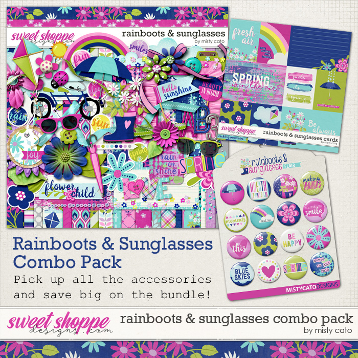 Rainboots and Sunglasses Combo Pack by Misty Cato