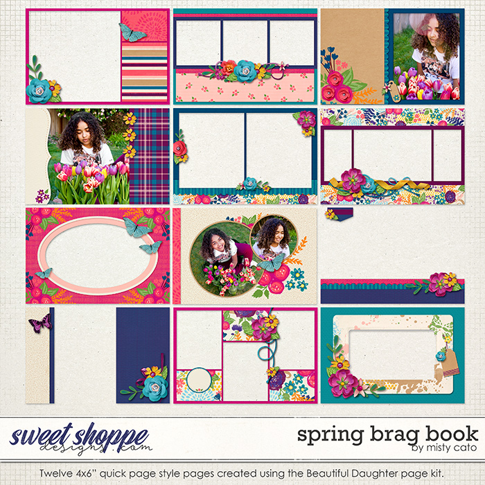 Spring Brag Book Album by Misty Cato