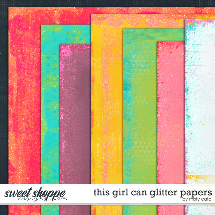 This Girl Can Glitter Papers by Misty Cato