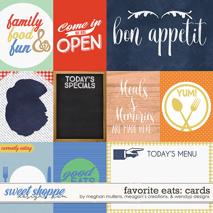 Favorite eats - Cards by Meghan Mullens, Meagan's Creations & WendyP Designs