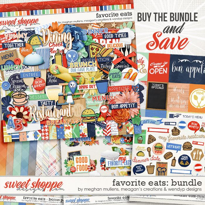 Favorite eats - Bundle by Meghan Mullens, Meagan's Creations & WendyP Designs