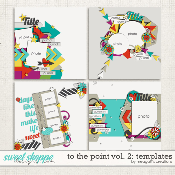 To the Point Vol. 2 : Templates by Meagan's Creations