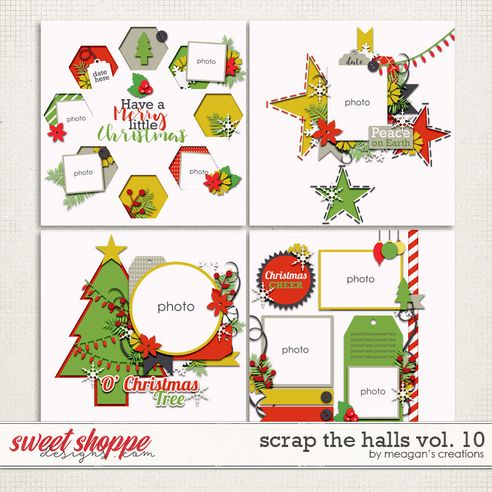 Scrap the Halls Vol. 10 by Meagan's Creations