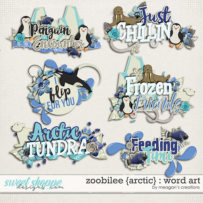 Zoobilee {Arctic} : Word Art by Meagan's Creations