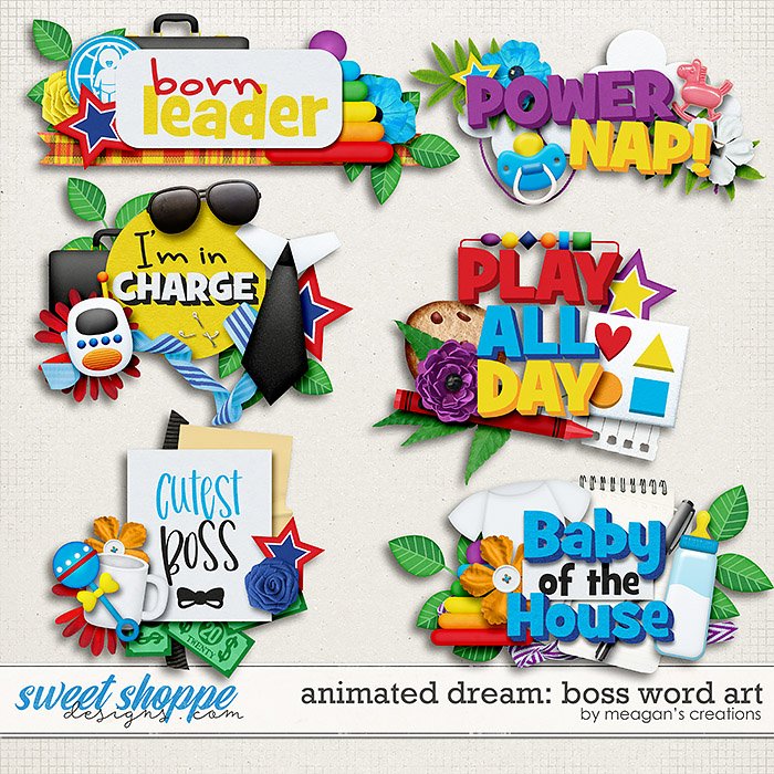 Animated Dream: Boss Word Art by Meagan's Creations