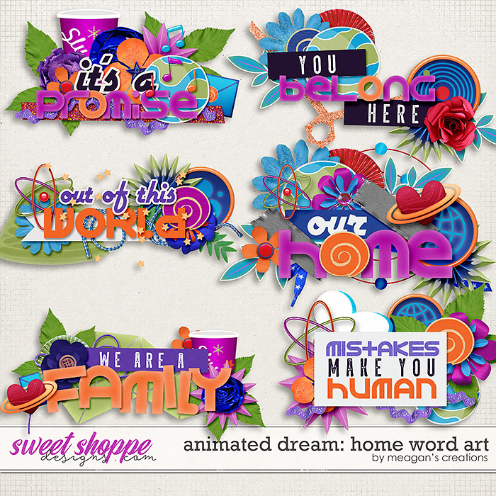 Animated Dream: Home Word Art by Meagan's Creations