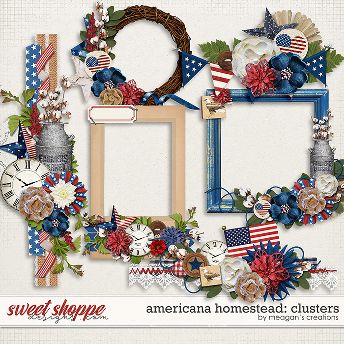 Americana Homestead: Clusters by Meagan's Creations
