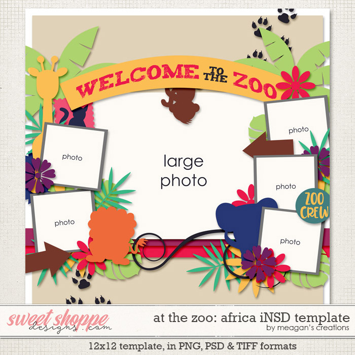 At the Zoo: Africa Template by Meagan's Creations