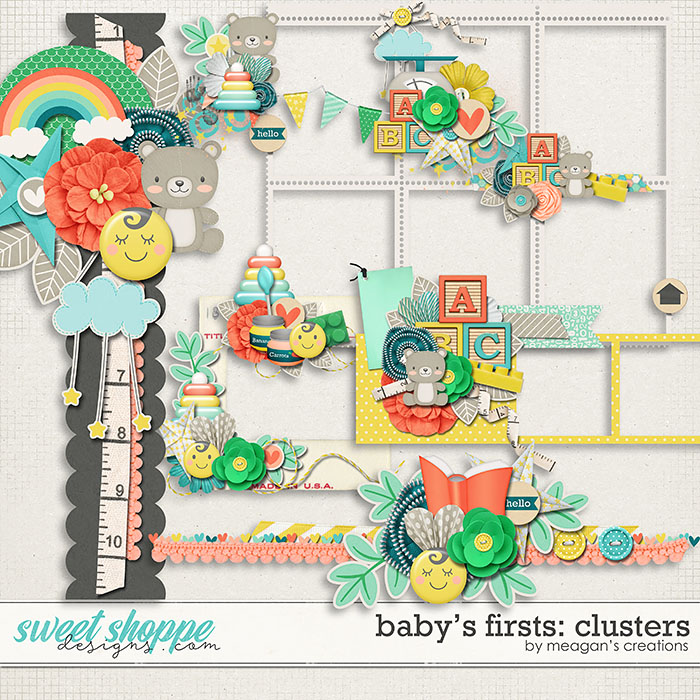 Baby's Firsts Clusters by Meagan's Creations