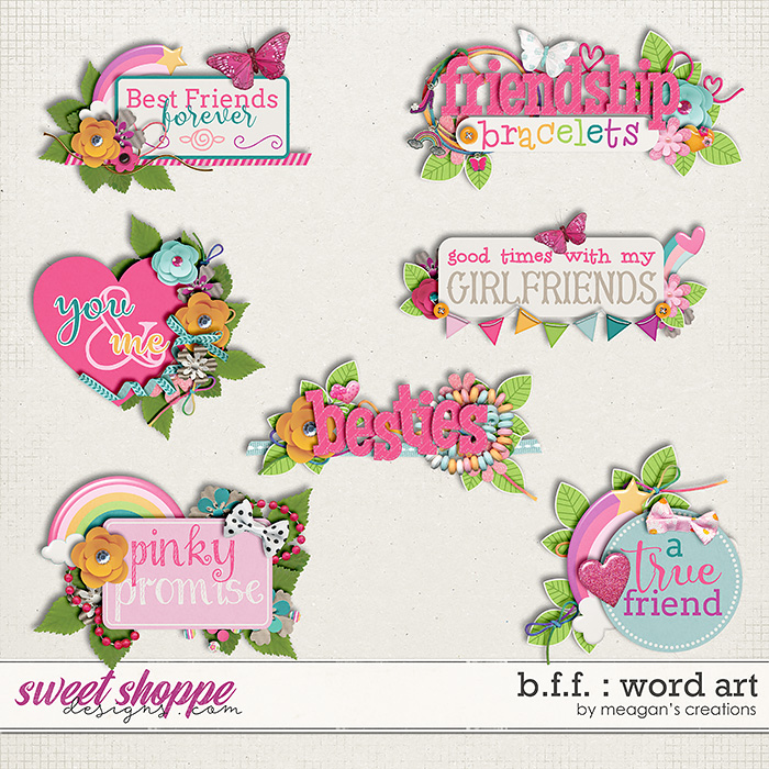 B.F.F. : Word Art by Meagan's Creations