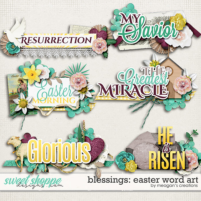 Blessings: Easter Word Art by Meagan's Creations
