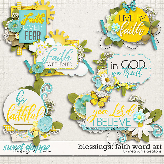 Blessings: Faith Word Art by Meagan's Creations