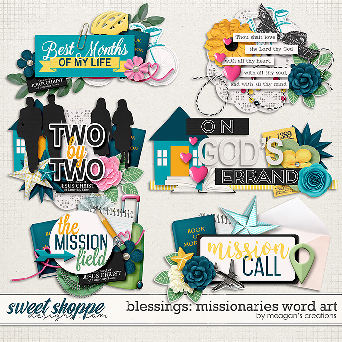 Blessings: Missionaries Word Art by Meagan's Creations