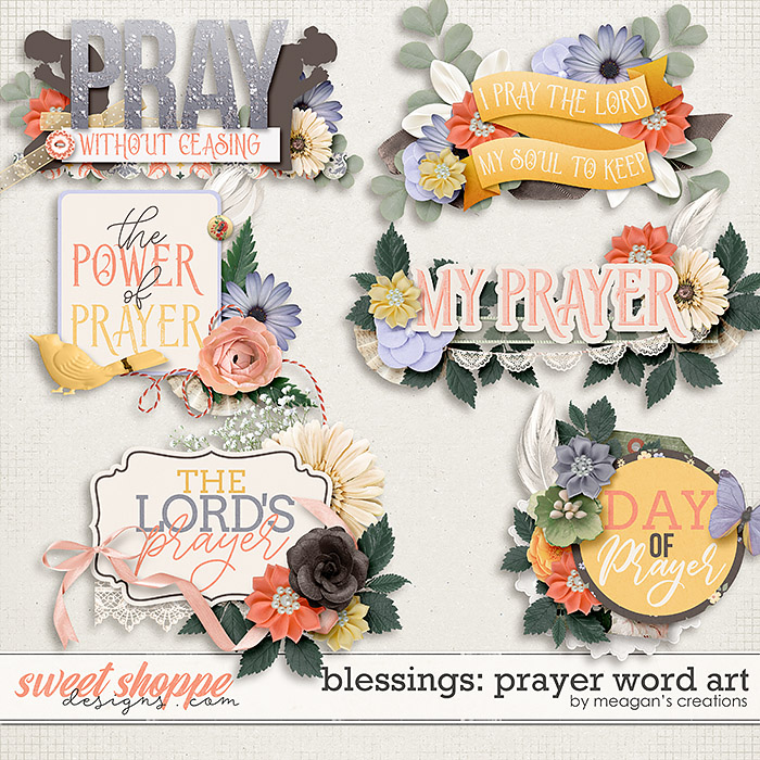 Blessings: Prayer Word Art by Meagan's Creations