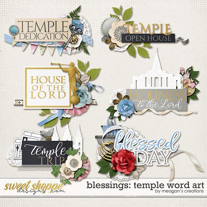 Blessings: Temple Word Art by Meagan's Creations