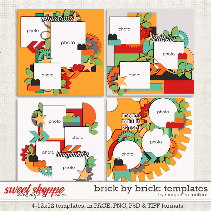 Brick by Brick: Templates by Meagan's Creations