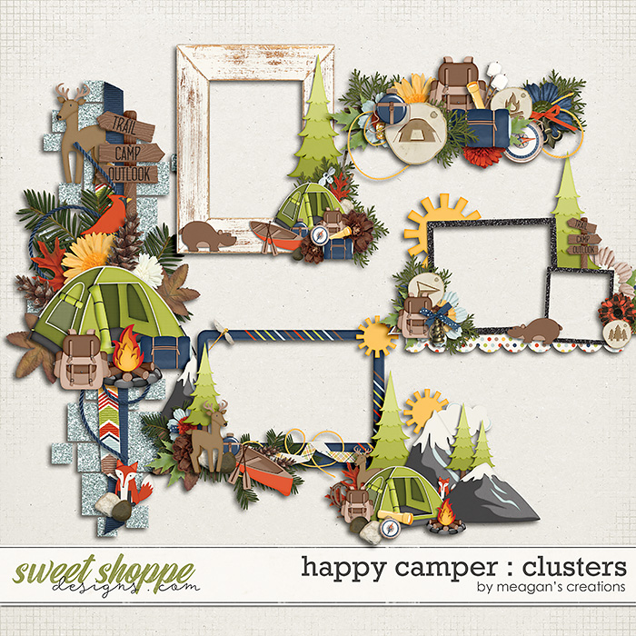 Happy Camper : Clusters by Meagan's Creations