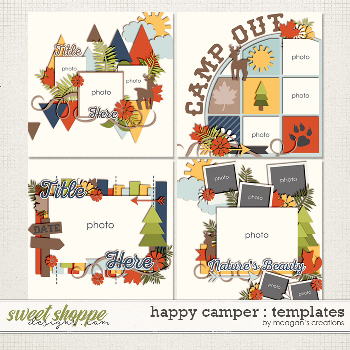 Happy Camper : Templates by Meagan's Creations