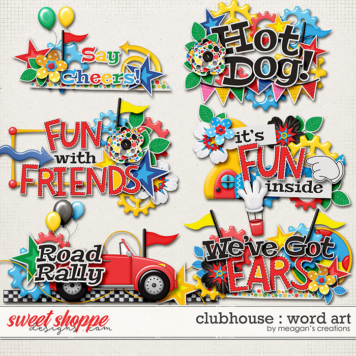 Clubhouse : Word Art by Meagan's Creations