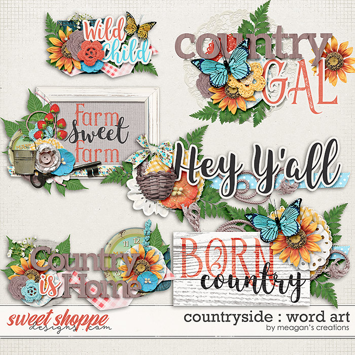 Countryside : Word Art by Meagan's Creations