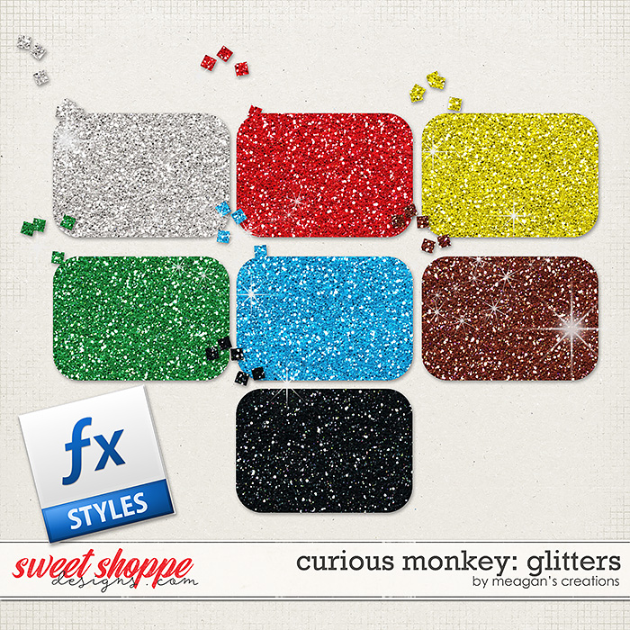 Curious Monkey: Glitters by Meagan's Creations