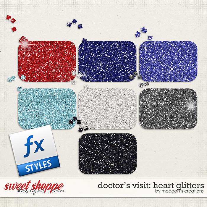 Doctor's Visit: Heart Glitters by Meagan's Creations