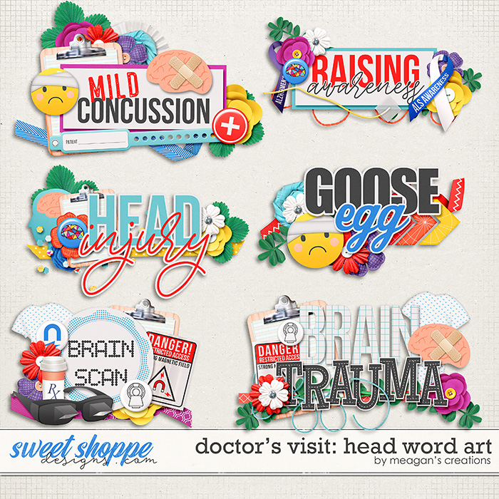 Doctor's Visit: Head Word Art by Meagan's Creations
